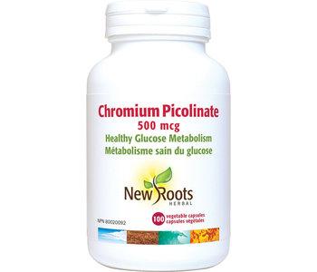 New Roots - Chromium Picolinate 500 mcg - 100 V-Caps