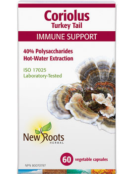 New Roots New Roots - Coriolus Turkey Tail - 60 V-Caps