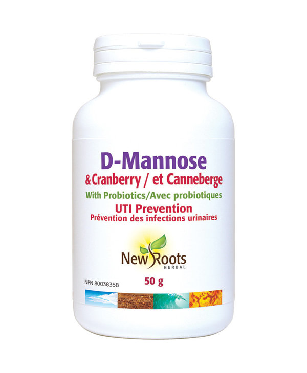 New Roots - D-Mannose & Cranberry - 50g