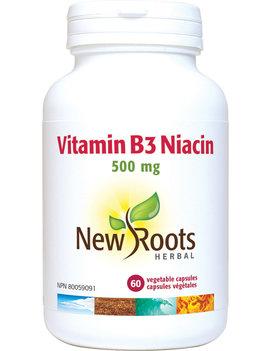 New Roots New Roots - Vitamin B3 Niacin 500mg - 60 V-Caps