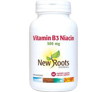 New Roots - Vitamin B3 Niacin 500mg - 60 V-Caps
