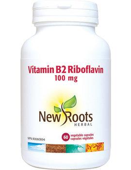 New Roots New Roots - Vitamin B2 Riboflavin - 100mg - 60 Caps