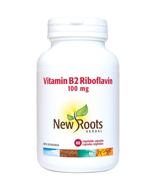New Roots - Vitamin B2 Riboflavin - 100mg - 60 Caps