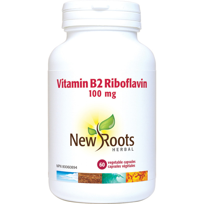 New Roots New Roots - Vitamin B2 Riboflavin - 100mg - 60 Caps