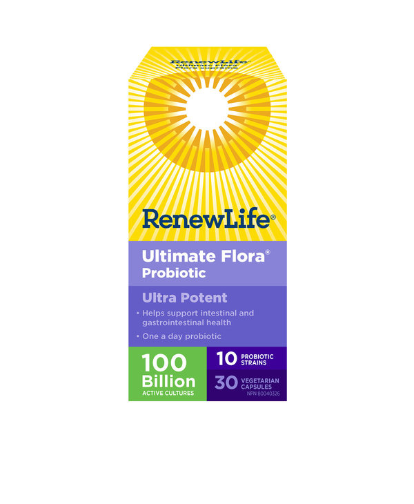 Renew Life - Ultimate Flora Ultra Potent 100 Billion - 30 V-Caps