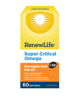 Renew Life Renew Life - Omega Super Critical - 60 SG