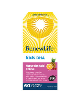 Renew Life Renew Life - Kids DHA - 60 Chewable