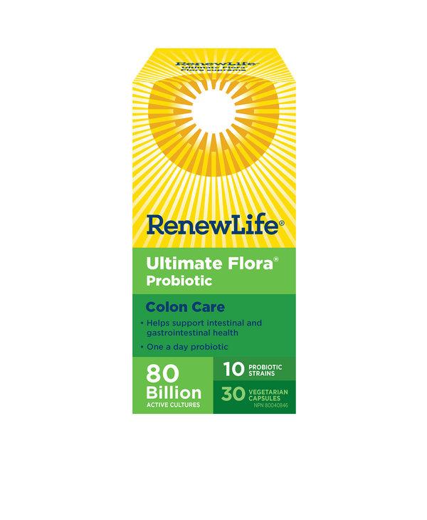 Renew Life - Ultimate Flora Colon Care 80 Billion - 30 Caps