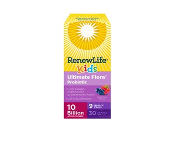 Renew Life - Ultimate Flora Kids Probiotic 10 Billion - 30 chewable
