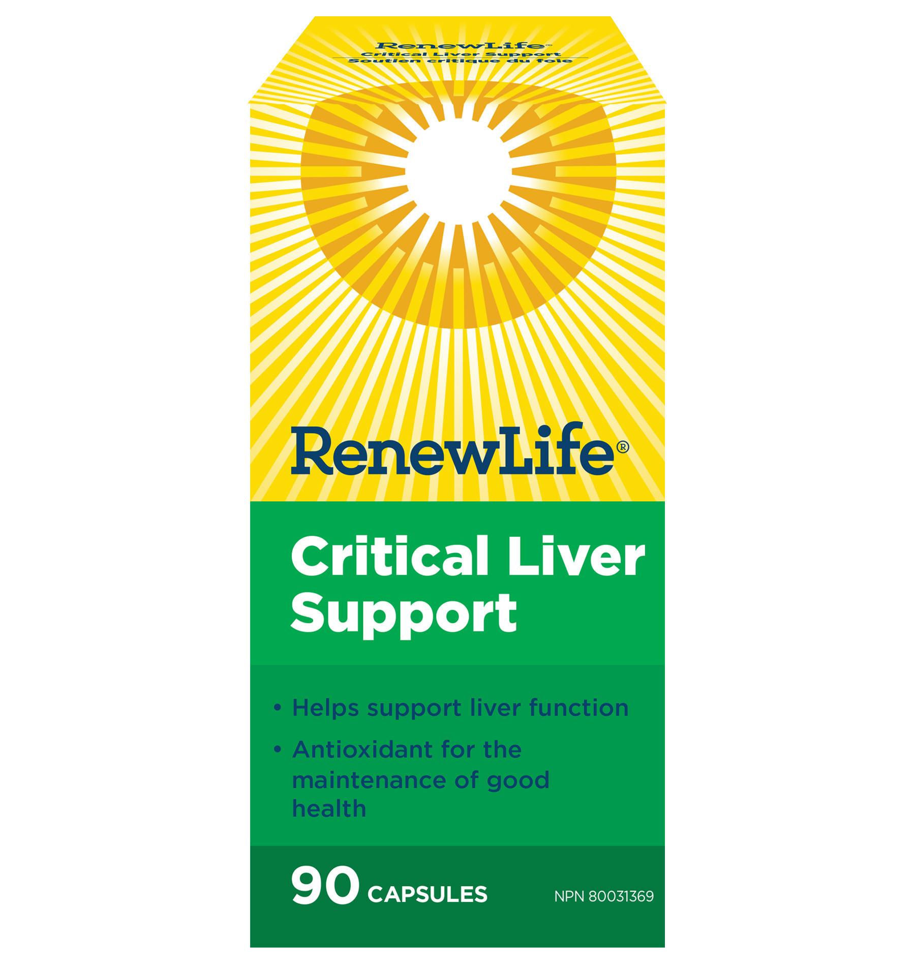 Renew Life Renew Life - Critical Liver Support - 90 V-Caps