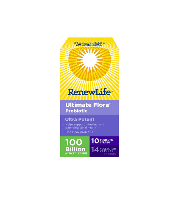 Renew Life - Ultimate Flora Ultra Potent 100 Billion - 14 Caps