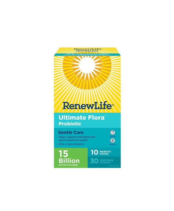 Renew Life - Ultimate Flora Gentle Care 15 Billion - 30 V-Caps