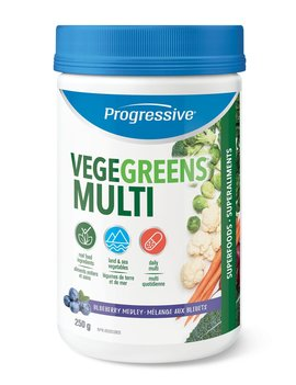 Progressive Progressive - VegeGreens - Multi - Blueberry - 250g