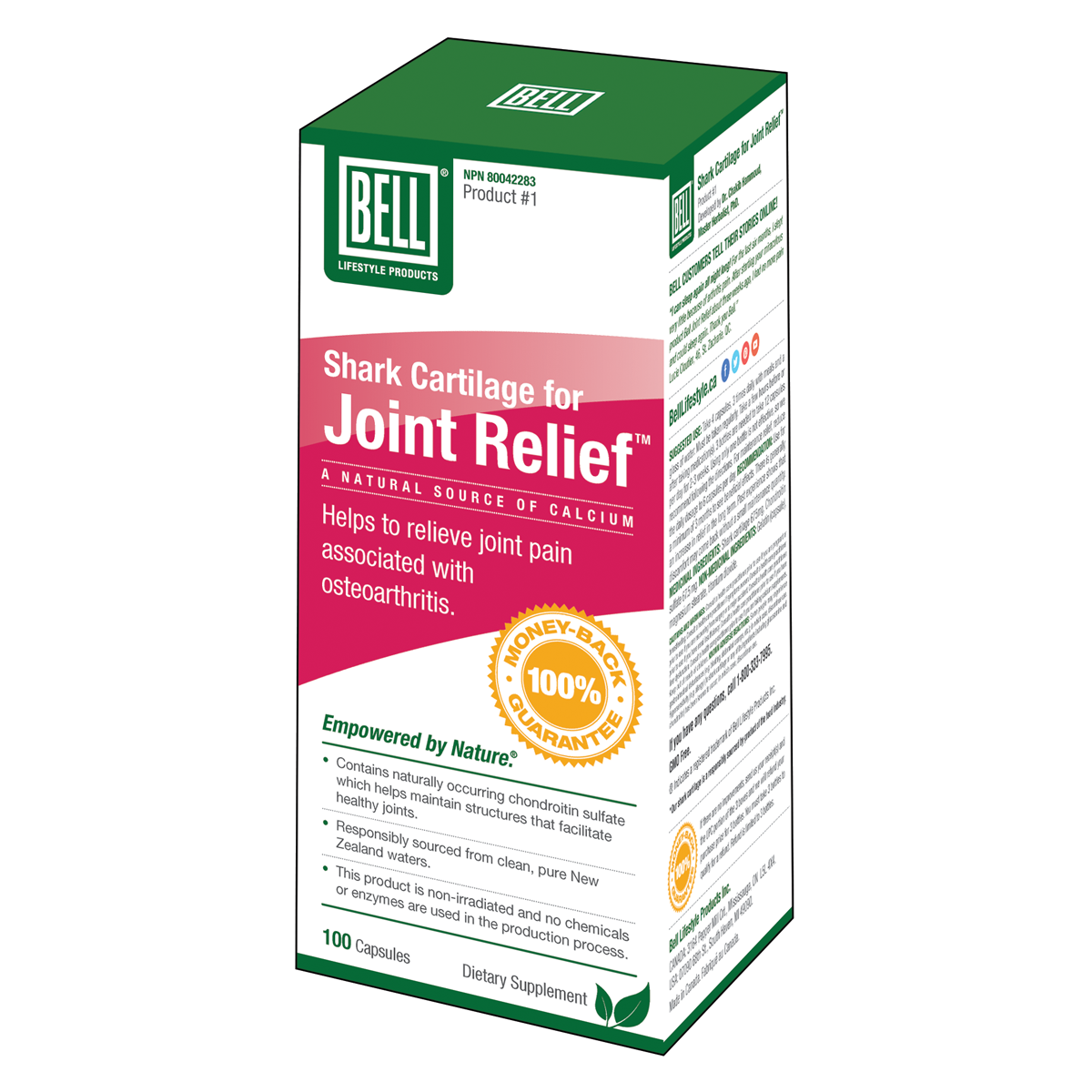 Bell - Shark Cartilage For Joint Relief - 100 Caps