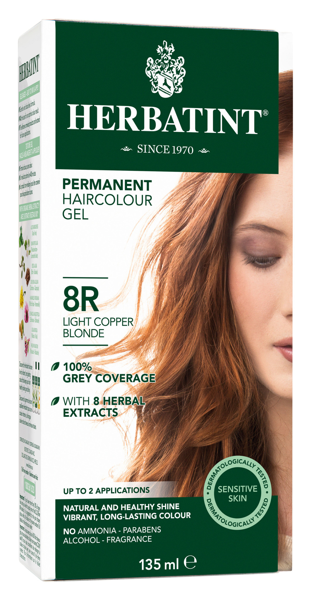Herbatint - 8R - Light Copper Blonde - 135ml