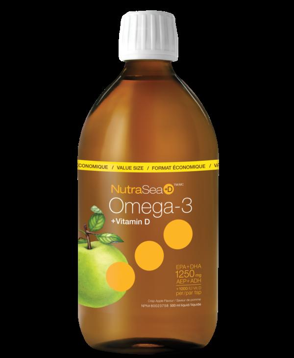 NutraSea+D - Omega-3 +D - Crisp Apple - 500ml