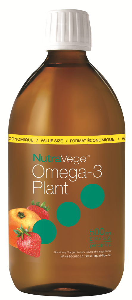 Ascenta NutraVege - Omega-3 Plant - Strawberry & Orange - 500ml