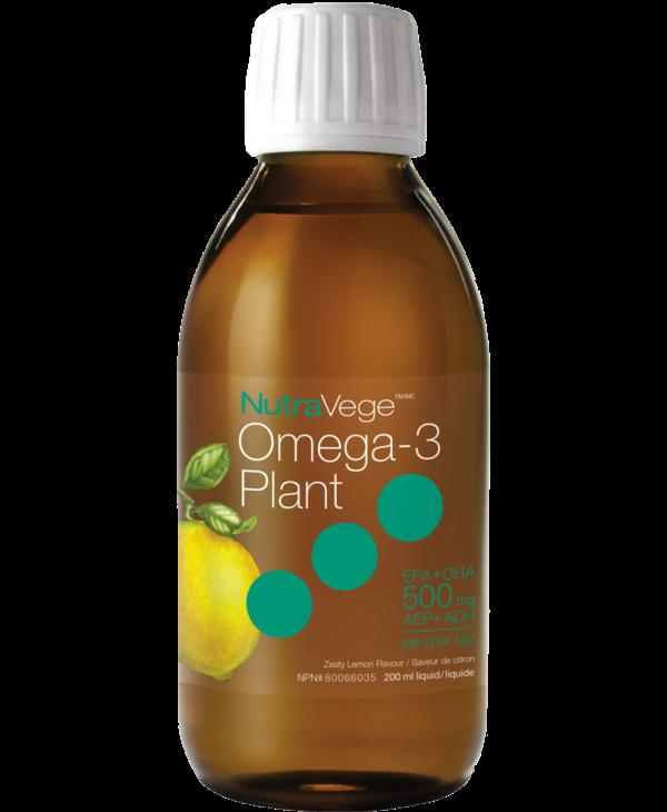 NutraVege - Omega-3 Plant - Zesty Lemon - 200ml