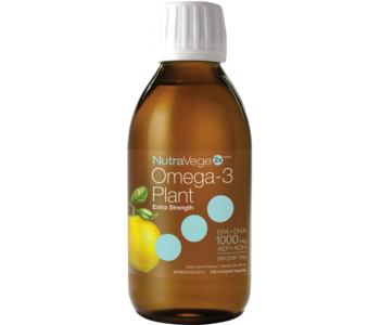NutraVege - 2x Omega-3 Plant Extra Strength - Zesty Lemon - 200ml