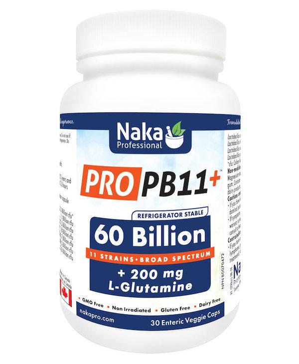 Naka - Pro PB11 60 billion +L glutamine - 30 Caps