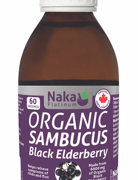 Naka Naka Platinum - Organic Sambucus Black Elderberry - 300 ml