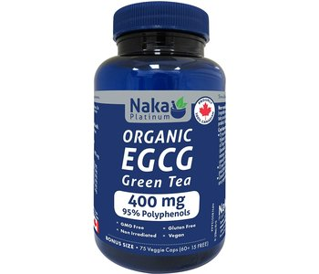 Naka - ECCG Green Tea 400mg - Organic - 75 V-Caps Bonus Size
