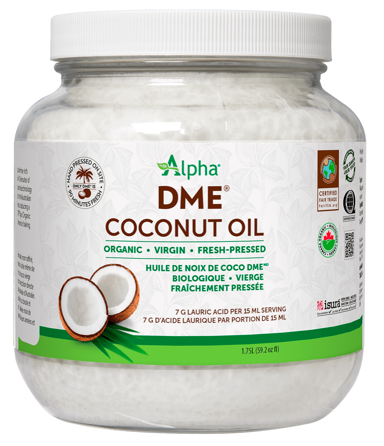 Alpha Health Products Alpha - DME Virgin Coconut Oil - 1.75L