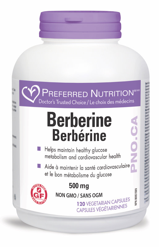 Preferred Nutrition Preferred Nutrition - Berberine - 500mg - 120 V-Caps