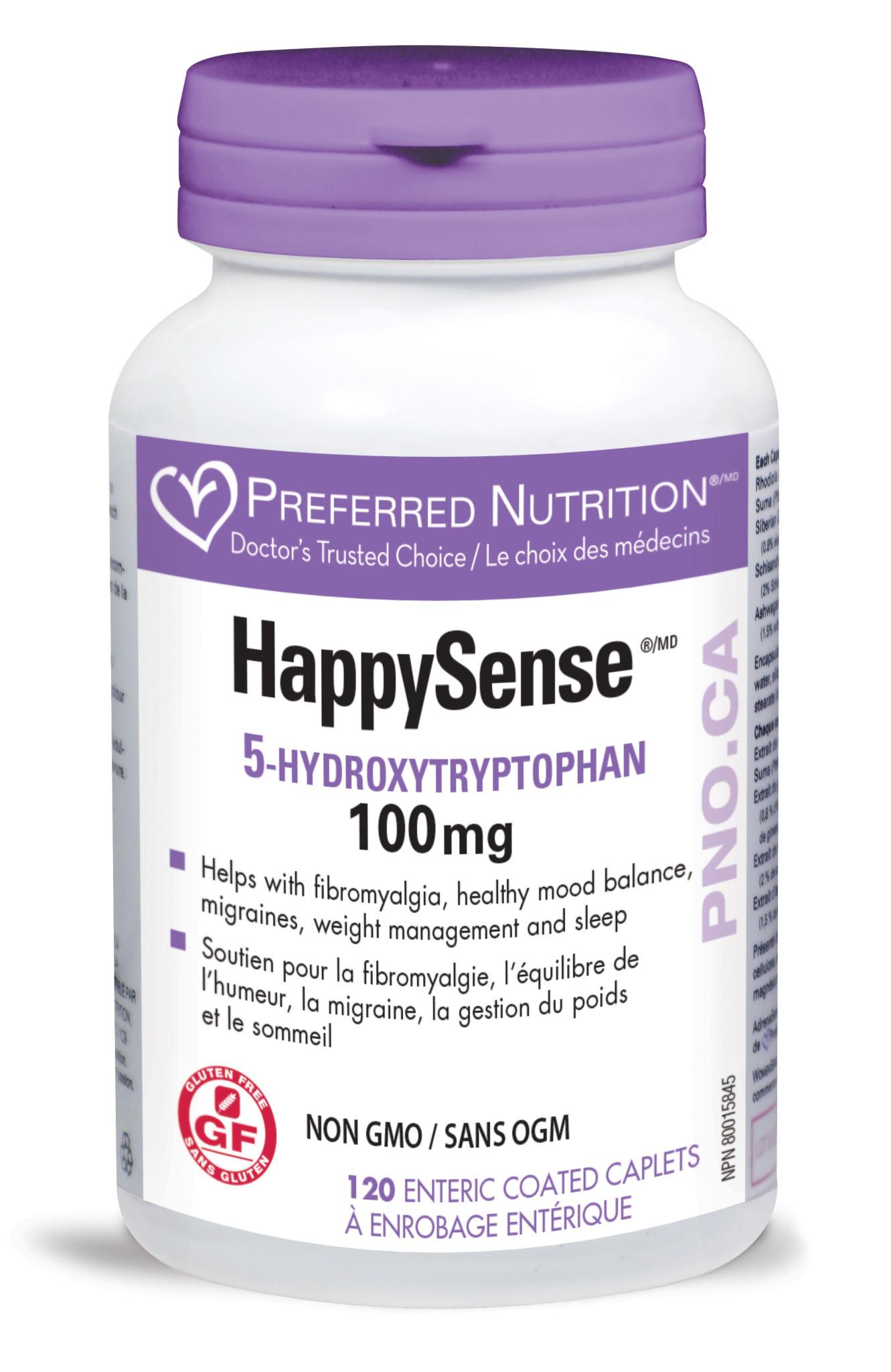Preferred Nutrition Preferred Nutrition - HappySense - 100mg -120 EC Caplets