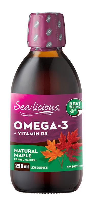 Sea-licious - Omega-3 + Vitamin D - Maple - 250ml