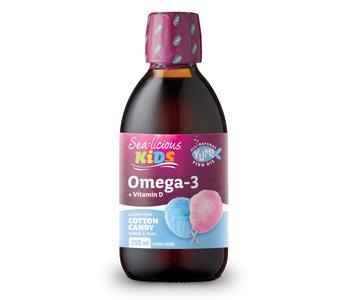 Sea-licious - Kids Omega-3 + Vitamin D - Cotton Candy - 250ml