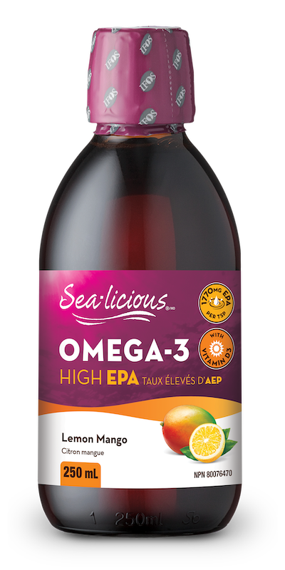 Sea-licious - Omega-3 High Epa - Lemon Mango - 250ml