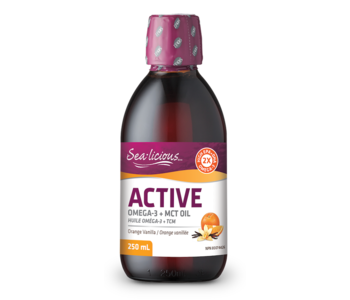 Sea-licious - Active Omega 3 + MCT oil - Orange Vanilla - 250ml