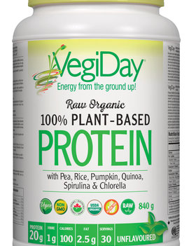 VegiDay VegiDay - Raw Organic Plant Based Protein - Unflavoured - 972g