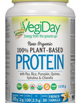 VegiDay VegiDay - Raw Organic Plant Based Protein - Vanilla - 972g
