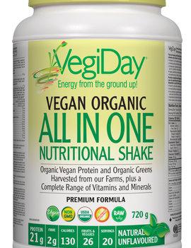 VegiDay VegiDay - Vegan Organic ALL IN ONE Shake & Go Natural - 720 g