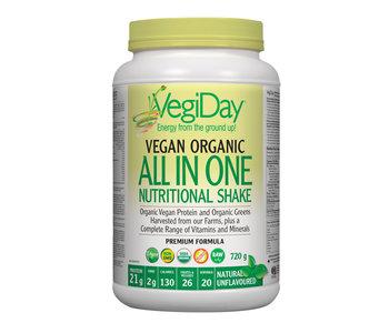 VegiDay - Vegan Organic ALL IN ONE Shake & Go Natural - 720 g