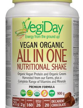 VegiDay VegiDay - Vegan Organic ALL IN ONE Shake & Go Chocolate - 900 g
