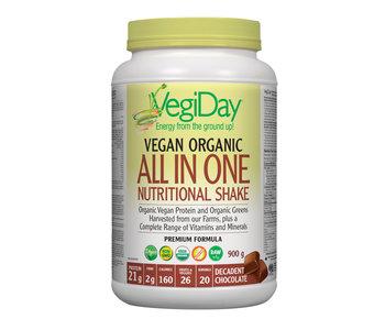 VegiDay - Vegan Organic ALL IN ONE Shake & Go Chocolate - 900 g