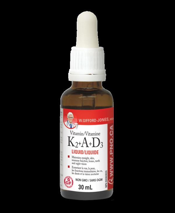 W.Gifford-Jones, MD - Vitamin K2+A+D3 - 30 ml