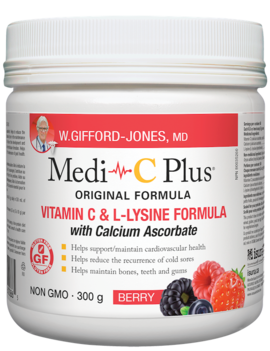 W.Gifford-Jones, MD - Medi-C Plus w/calcium - Berry - 300g