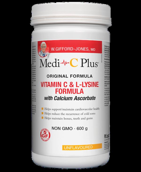 W.Gifford-Jones, MD - Medi-C Plus w/calcium - Unflavoured - 600g
