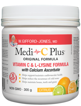 W.Gifford-Jones, MD - Medi-C Plus w/calcium - Citrus - 300g