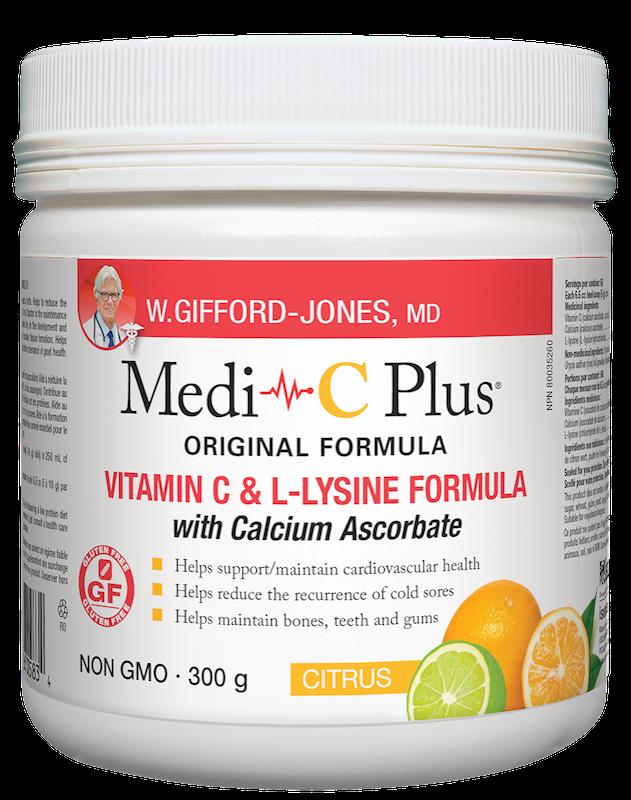 W.Gifford-Jones, MD - Medi-C Plus w/calcium - Citrus - 300g