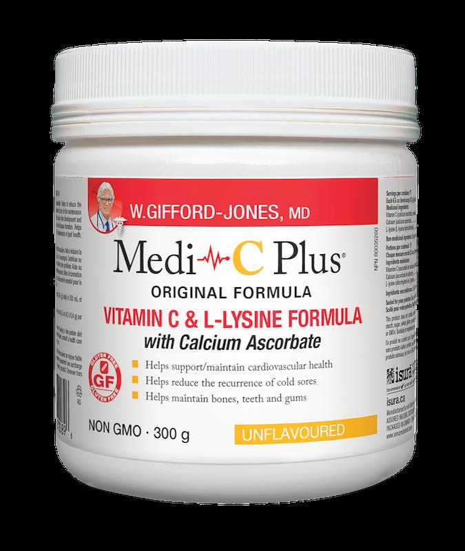 W.Gifford-Jones, MD - Medi-C Plus w/calcium - Unflavoured - 300g