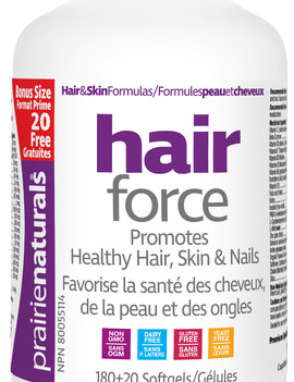 Prairie Naturals Pririenaturals hair force 180 + 20 soft gels