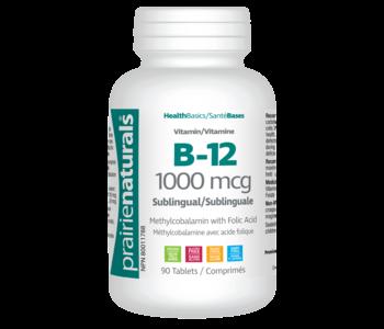 Prairie Naturals - Vitamin B12 w/ Folic Acid 1000 mcg - 90 Tabs