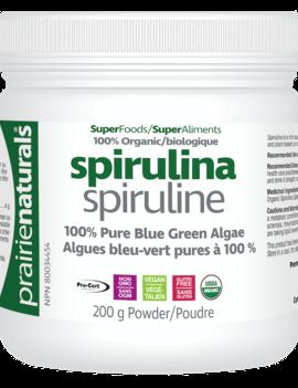 Prairie Naturals Prairie Naturals - Spirulina - Organic - 200g