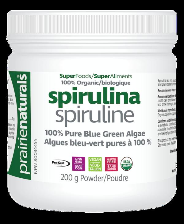 Prairie Naturals - Spirulina - Organic - 200g