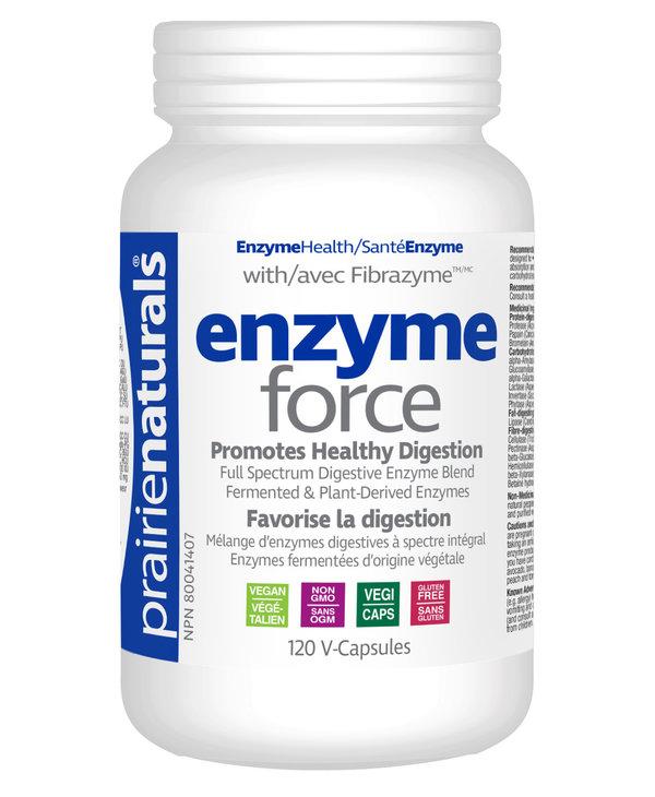Prairie Naturals - Enzyme-Force w/ Fibrazyme - 120 V-Caps